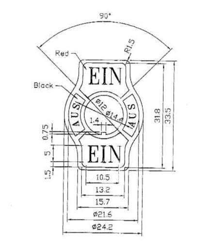 Bezeichnungsschild Aufdruck-Motiv ON/OFF/ON SCI Indicator Plate ON/OFF 1 St.