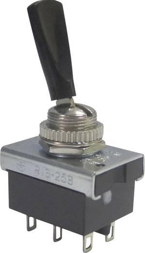 Kippschalter 250 V/AC 6 A 2 x Ein/Ein SCI R13-25B1-05 rastend 1 St.