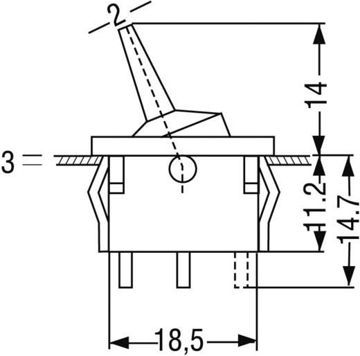 Kippschalter 250 V/AC 6 A 1 x Ein/Aus/Ein Marquardt 1818.1102 rastend/0/rastend 1 St.