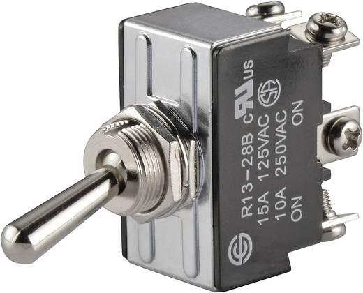 Kippschalter 250 V/AC 10 A 2 x Ein/Ein SCI R13-28B-06 rastend 1 St.