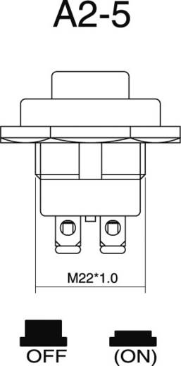 Kfz-Drucktaster 24 V/DC 10 A 1 x Aus/(Ein) tastend SCI A2-5A 1 St.