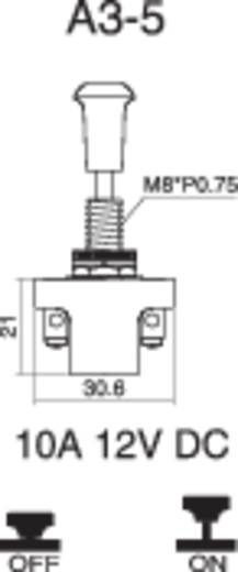 Kfz-Zugschalter 12 V/DC 10 A 1 x Aus/Ein rastend SCI A3-5AC-SQ 1 St.