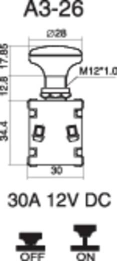 Kfz-Zugschalter 12 V/DC 30 A 1 x Aus/Ein rastend SCI A3-26L-SC M4 LED RED 1 St.