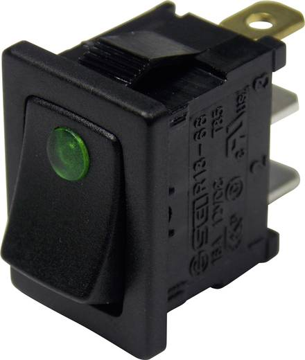 SCI Wippschalter R13-66B2-02 B/B 12 V/DC 16 A 1 x Aus/Ein rastend 1 St.