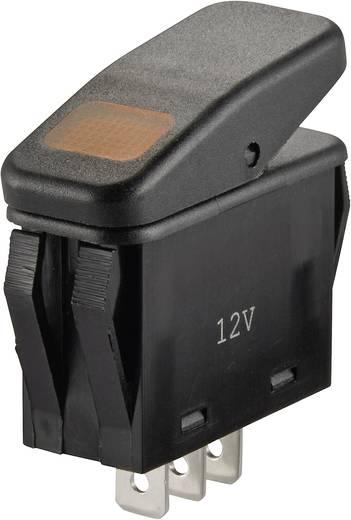 Wippschalter 14 V/DC 21 A 1 x Aus/Ein SCI R13-258B B/R IP66 rastend 1 St.
