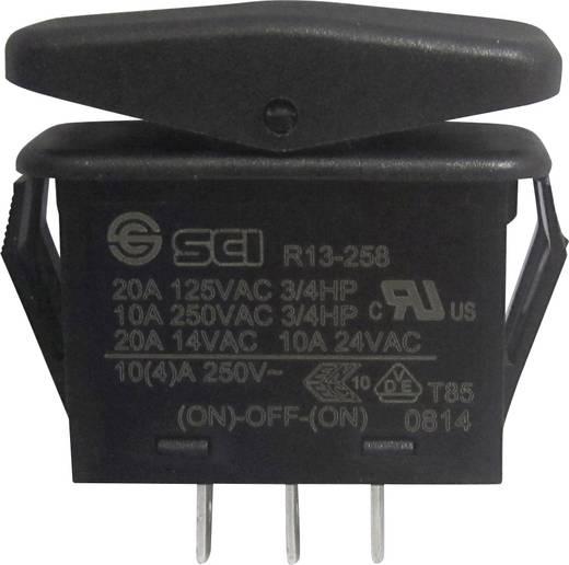 SCI Wippschalter R13-258I 14 V/AC 21 A 1 x (Ein)/Aus/(Ein) IP66 tastend/0/tastend 1 St.