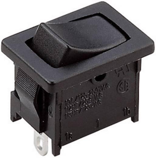 Wippschalter A12421100000 250 V/AC 6 A 1 x Aus/(Ein) tastend 1 St.