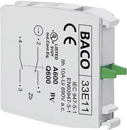 Kontaktelement 1 Öffner, 1 Schließer tastend 600 V BACO 33E11 1 St.