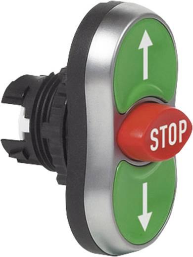 Dreifachdrucktaster Frontring Kunststoff, verchromt Grün, Rot, Grün BACO L61BA22 1 St.