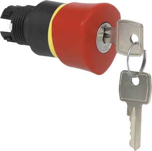 Pilztaster Frontring Kunststoff, Schwarz Rot Schlüsselentriegelung BACO L22GR01 1 St.