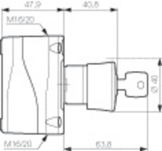 BACO LBX11202 Pilztaster im Gehäuse 240 V/AC 2.5 A 2 Öffner IP66 1 St.