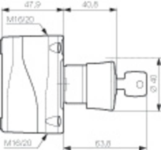Pilztaster im Gehäuse 240 V/AC 2.5 A 1 Öffner BACO LBX11201 IP66 1 St.