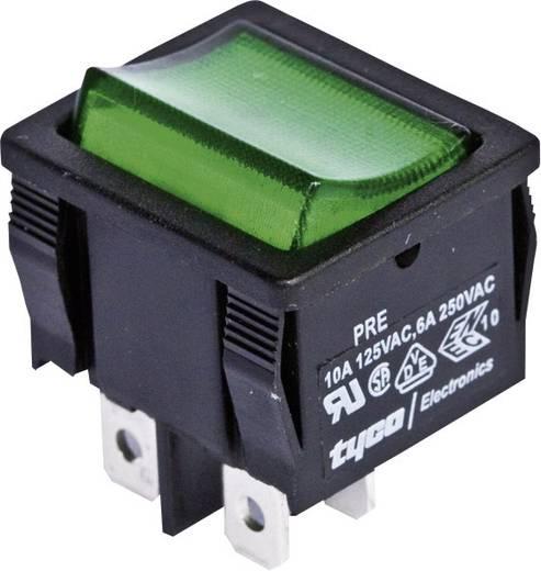 TE Connectivity Wippschalter 1634200-1 250 V/AC 6 A 2 x Aus/Ein rastend 1 St.