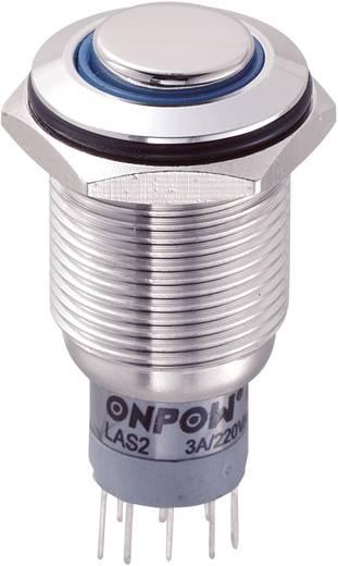 Vandalismusgeschützter Drucktaster 250 V/AC 3 A 2 x Ein/(Ein) TRU COMPONENTS LAS2GQH-22E/B/12V/S/P IP65 tastend 1 St.
