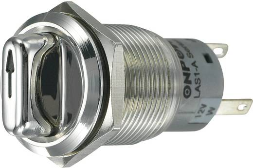 Vandalismusgeschützter Drehschalter 250 V/AC 3 A Schaltpositionen 2 1 x 90 ° TRU COMPONENTS LAS1-AGQ-11XD/21/W IP65 1 St