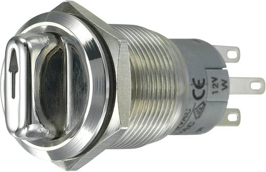 Vandalismusgeschützter Drehschalter 250 V/AC 3 A Schaltpositionen 2 1 x 90 ° TRU COMPONENTS LAS1-AGQ-22XD/31/W IP65 1 St