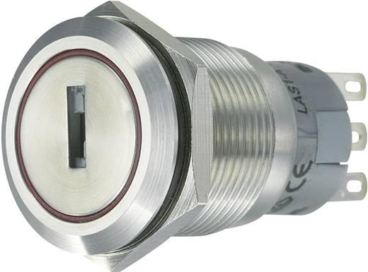 Vandalismusgeschützter Schlüsselschalter 250 V/AC 5 A 2 x Ein/Aus/Ein 2 x 45 ° TRU COMPONENTS LAS1-AGQ-22Y/31 IP65 1 St.