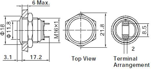 TRU COMPONENTS GQ16H-10/J/N Vandalismusgeschützter Drucktaster 48 V/DC 2 A 1 x Aus/(Ein) IP65 tastend 1 St.