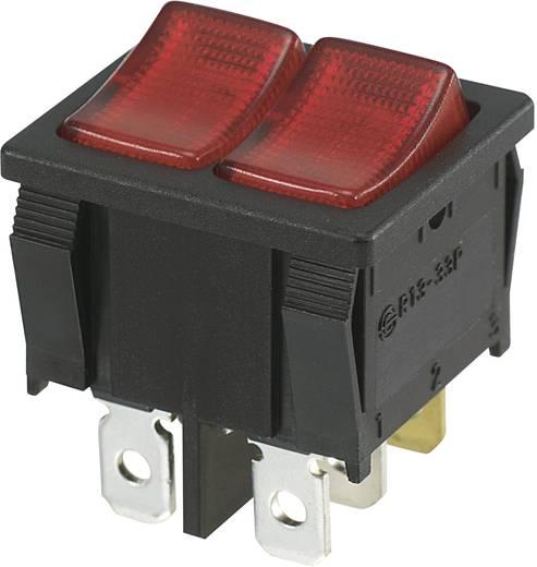 SCI Wippschalter R13-33PBF-02 250 V/AC 10 A 2 x Aus/(Ein) tastend 1 St.