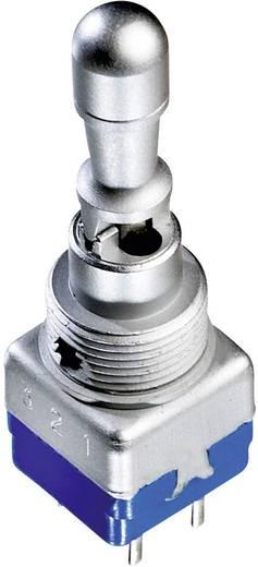 Kippschalter 250 V/AC 2 A 2 x Ein/Aus/Ein APEM 12149AK IP65 rastend/0/rastend 1 St.