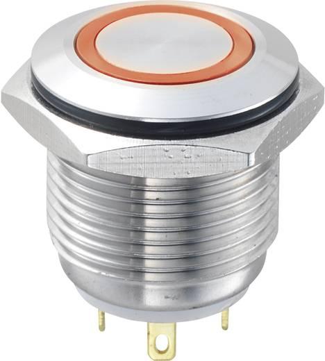 Vandalismusgeschützter Drucktaster 48 V/DC 2 A 1 x Aus/(Ein) TRU Components GQ16F-10E/J/R/12V IP65 tastend 1 St.