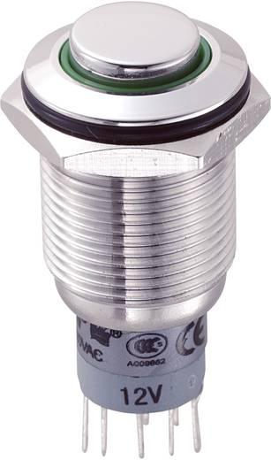 Vandalismusgeschützter Druckschalter 250 V/AC 3 A 2 x Ein/Ein LAS2GQH-22ZE/G/12V/S/P IP67 rastend 1 St.