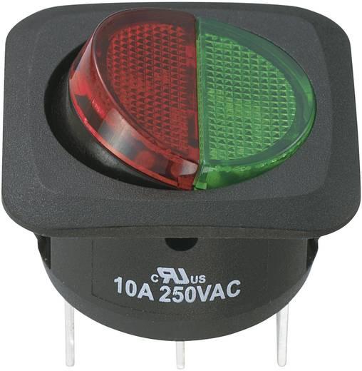 Wippschalter 250 V/AC 10 A 1 x Ein/Ein SCI R13-203CL3-01-BGRGR5 rastend 1 St.