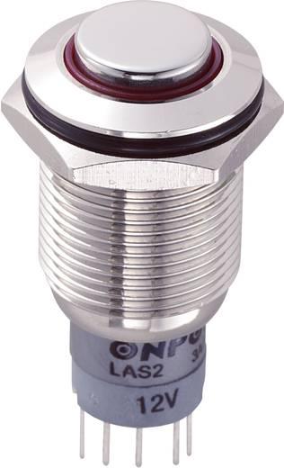 Vandalismusgeschützter Drucktaster 250 V/AC 3 A 1 x Ein/(Ein) LAS2GQH-11E/R/12V/N/P IP67 tastend 1 St.