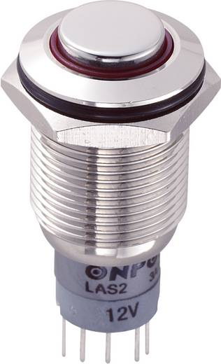 Vandalismusgeschützter Drucktaster 250 V/AC 3 A 1 x Ein/(Ein) TRU Components LAS2GQH-11E/R/12V/N/P IP67 tastend 1 St.