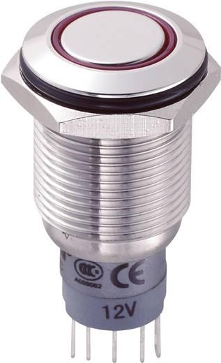 Vandalismusgeschützter Drucktaster 250 V/AC 3 A 1 x Ein/(Ein) TRU COMPONENTS LAS2GQF-11E/R/12V/S/P tastend 1 St.