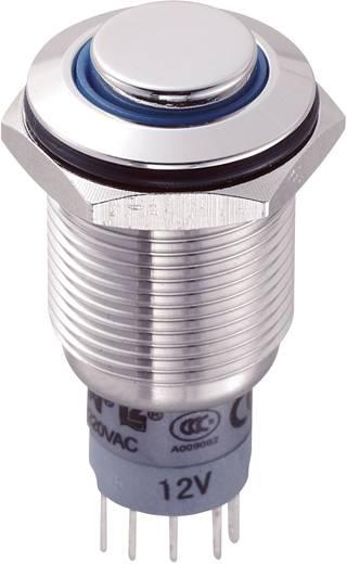 Vandalismusgeschützter Drucktaster 250 V/AC 3 A 1 x Ein/(Ein) TRU Components LAS2GQH-11E/B/12V/S/P IP67 tastend 1 St.