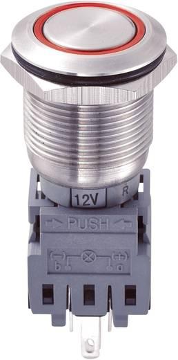 Vandalismusgeschützter Druckschalter 250 V/AC 5 A 1 x Aus/Ein TRU COMPONENTS LAS1-BGQ-11ZE/R/12V IP67 rastend 1 St.