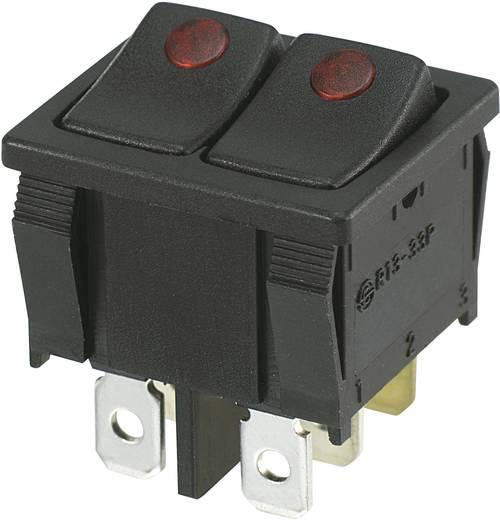 Wippschalter 250 V/AC 10 A 2 x Aus/(Ein) SCI R13-33PB2F-02 tastend 1 St.