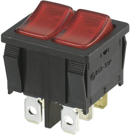 Wippschalter 250 V/AC 10 A 2 x Aus/Ein SCI R13-33PB-02 rastend 1 St.