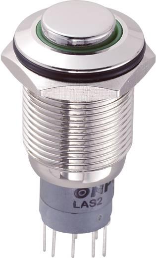 Vandalismusgeschützter Drucktaster 250 V/AC 3 A 2 x Ein/(Ein) TRU Components LAS2GQH-22E/G/12V/N/P IP65 tastend 1 St.