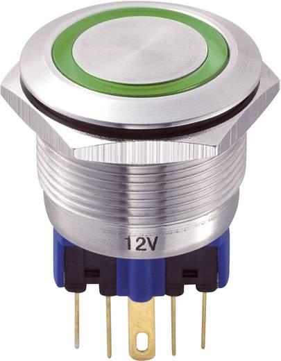 Vandalismusgeschützter Drucktaster 250 V/AC 5 A 1 x Ein/(Ein) TRU Components GQ22-11E/G/12V IP65 tastend 1 St.