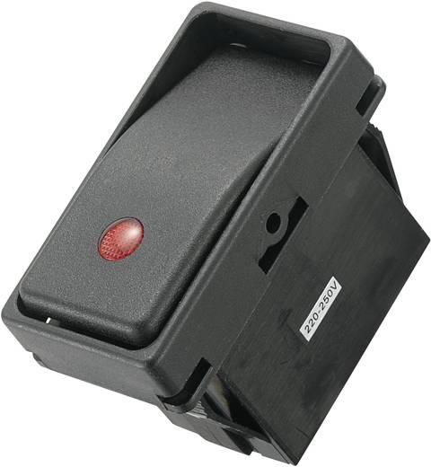 SCI Wippschalter R13-294A2-01-BBRN 250 V/AC 10 A 1 x Aus/Ein IP66 rastend 1 St.