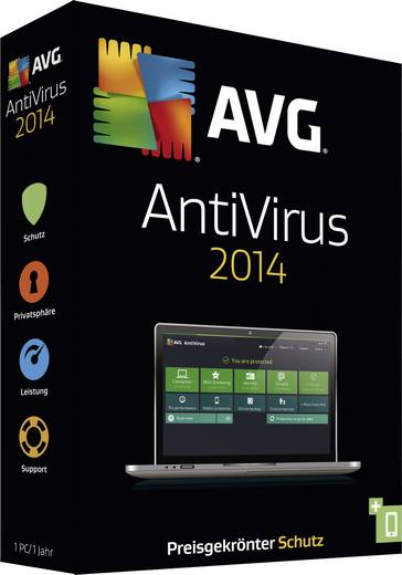 AntiVirus 2014 Vollversion, 1 Lizenz Windows Antivirus