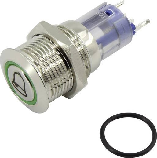 Vandalismusgeschützter Drucktaster 250 V/AC 3 A 1 x Aus/(Ein) TRU Components LAS2-GQF-11E/G/12V/N IP40 tastend 1 St.
