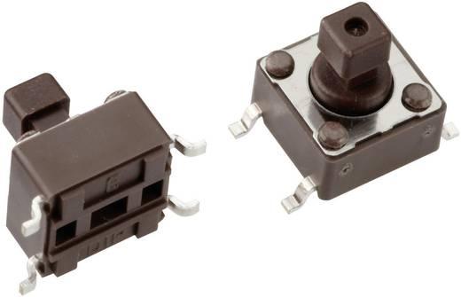 Mentor 1254.1007 Drucktaster 12 V/DC 0.05 A 1 x Aus/(Ein) tastend 1 St.