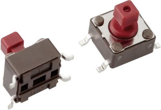 Mentor 1254.1107 Drucktaster 12 V/DC 0.05 A 1 x Aus/(Ein) tastend 1 St.