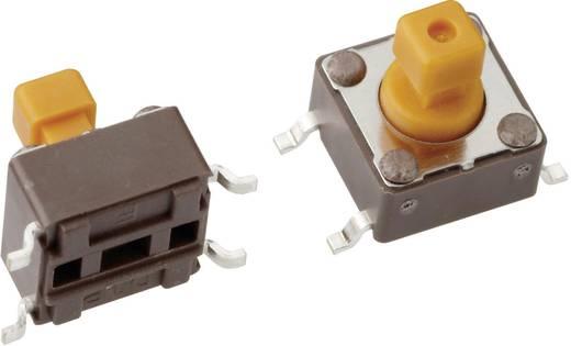 Mentor 1254.1207 Drucktaster 12 V/DC 0.05 A 1 x Aus/(Ein) tastend 1 St.