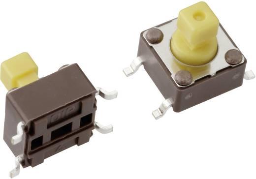 Mentor 1254.1307 Drucktaster 12 V/DC 0.05 A 1 x Aus/(Ein) tastend 1 St.