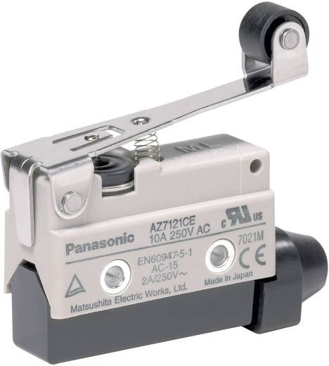 Endschalter 115 V/DC, 250 V/AC 10 A Rollenhebel tastend Panasonic AZ7121CEJ IP64 1 St.