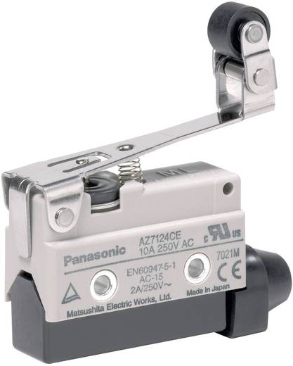 Endschalter 115 V/DC, 250 V/AC 10 A Rollenhebel tastend Panasonic AZ7124CEJ IP64 1 St.