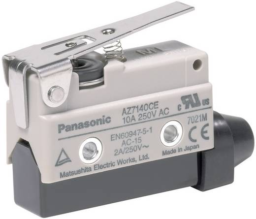 Endschalter 115 V/DC, 250 V/AC 10 A Metallhebel gerade tastend Panasonic AZ7140CEJ IP64 1 St.