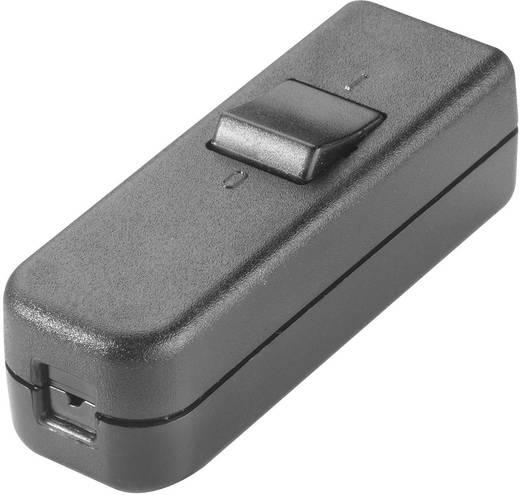 Schnurschalter Schwarz 1 x Aus/Ein 6 A interBär 8006-004.01 1 St.