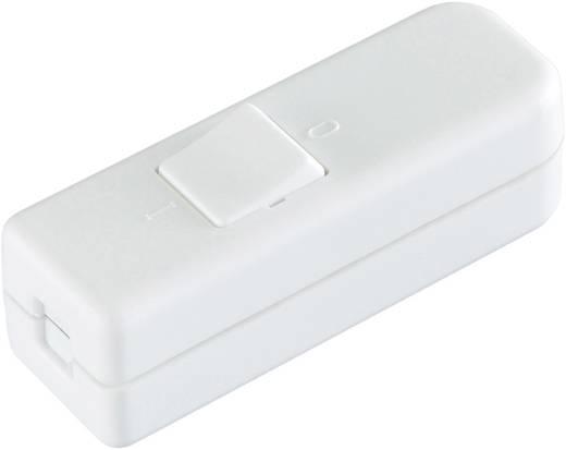 Schnurschalter Weiß 1 x Aus/Ein 6 A interBär 8006-008.01 1 St.