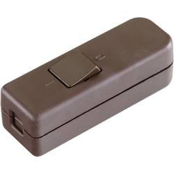 Šňůrový vypínač interBär , 1pólový, 250 V/AC, 6 A, hnědá