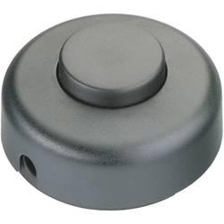 Nášlapný vypínač interBär, 1pólový, 250 V/AC, 2 A, černá